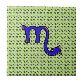 Scorpio symbol t ceramic tile