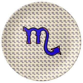 Scorpio symbol t porcelain plates