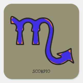 Scorpio symbol t square sticker