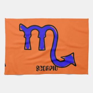 Scorpio symbol tea towel