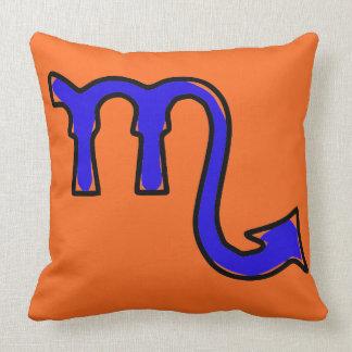 Scorpio symbol throw pillow