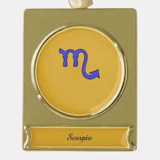 !Scorpio t Gold Plated Banner Ornament
