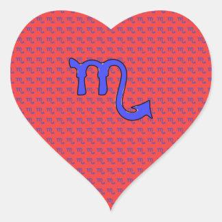 !Scorpio t Heart Sticker