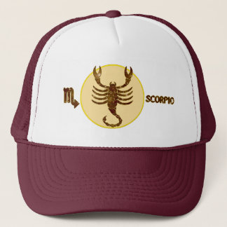 Scorpio Topaz Embroidered Modern Trucker Hat