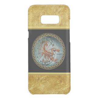 Scorpio Zodiac Astrology black gold foil design Uncommon Samsung Galaxy S8 Plus Case