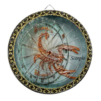 Scorpio Zodiac Astrology design Dartboard