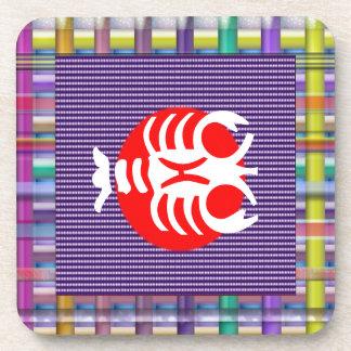 SCORPIO Zodiac Astrology Jyotish Symbols Beverage Coaster