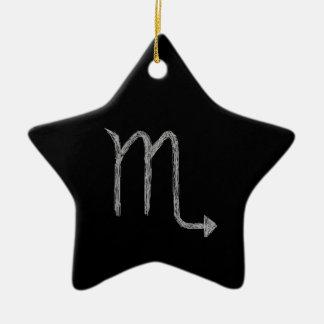 Scorpio. Zodiac Astrology Sign. Black. Ceramic Star Decoration