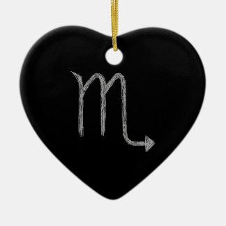 Scorpio. Zodiac Astrology Sign. Black. Christmas Ornaments