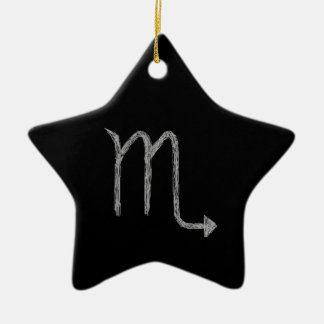 Scorpio. Zodiac Astrology Sign. Black. Christmas Ornaments
