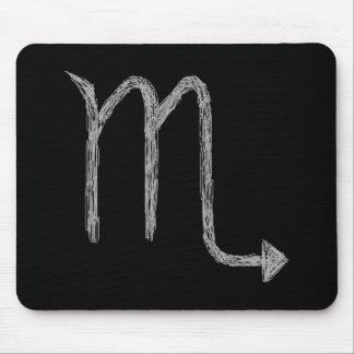Scorpio. Zodiac Astrology Sign. Black. Mouse Pad