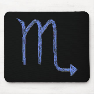 Scorpio. Zodiac Astrology Sign. Blue. Mouse Pad