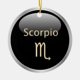 Scorpio zodiac astrology star sign ornament