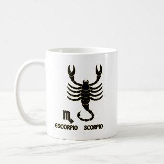 Scorpio Zodiac Black Gold Modern Mug Tea Cup