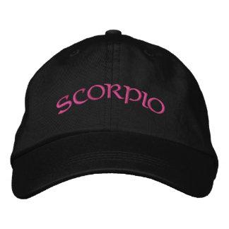 Scorpio Zodiac Black/Magenta Cap