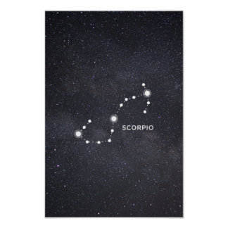 Scorpio Zodiac Constellation Poster