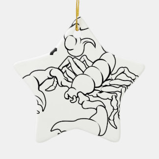 Scorpio zodiac horoscope astrology sign christmas tree ornaments