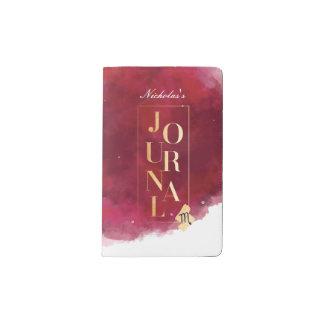 Scorpio Zodiac Maroon & Gold Watercolour Journal