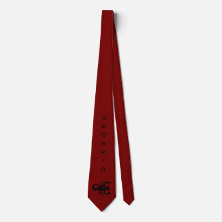 Scorpio Zodiac Sign and Name Red Tie