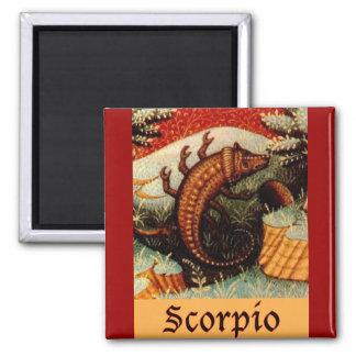 Scorpio Zodiac Sign Square Magnet