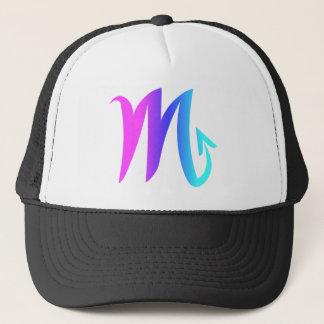 Scorpio Zodiac Sign Pink Blue Aqua Gradient Trucker Hat