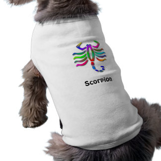Scorpio Zodiac Star Sign Rainbow Dog Jacket Shirt