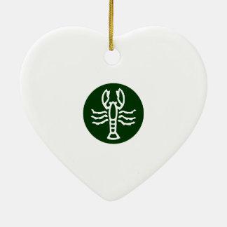 SCORPIO Zodiac Symbol Ceramic Heart Decoration