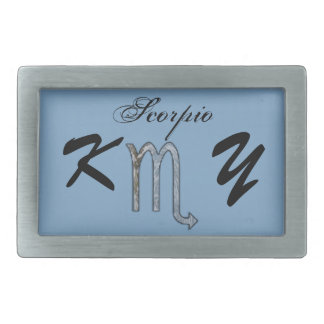 Scorpio Zodiac Symbol Element by Kenneth Yoncich Belt Buckles