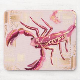 Scorpio Zodiac Watercolour Artistry mousepad
