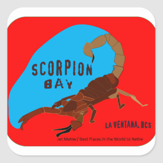 Scorpion Bay, La Ventana Bay, Baja California Sur Square Sticker