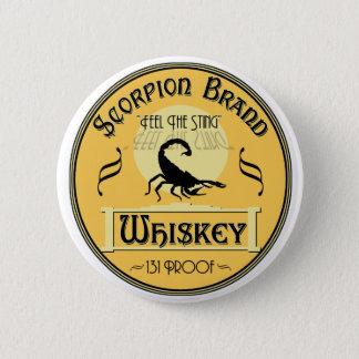 Scorpion Brand Whiskey 6 Cm Round Badge
