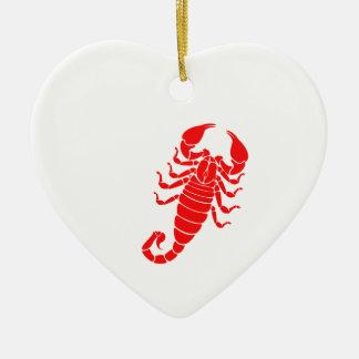 Scorpion Ceramic Heart Decoration