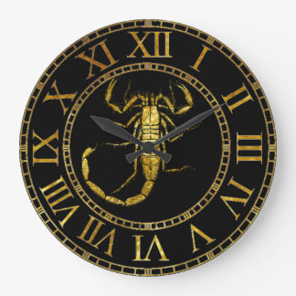 Scorpion In Gold Clocks