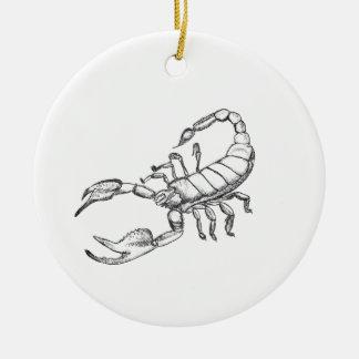 Scorpion Round Ceramic Decoration
