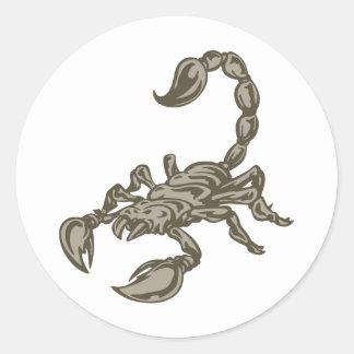 Scorpion Round Sticker