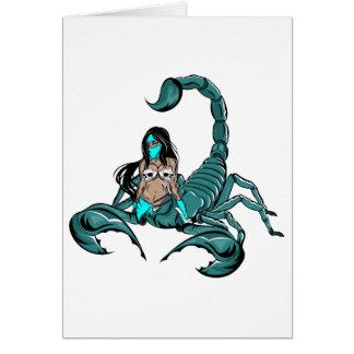 Scorpion Skull Woman Greeting Card