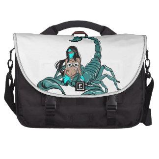 Scorpion Skull Woman Laptop Messenger Bag