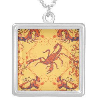 Scorpion Square Pendant Necklace