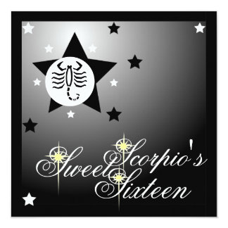 Scorpio's Zodiacal Fortune Sweet Sixteen-Customize Card