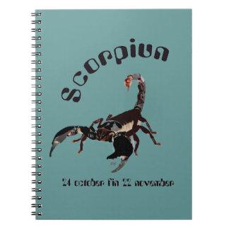 Scorpiun 24 more october fin 22 November note Notebooks