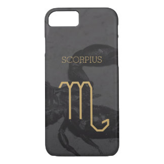 Scorpius Zodiac Sign | Custom Background + Text iPhone 8/7 Case