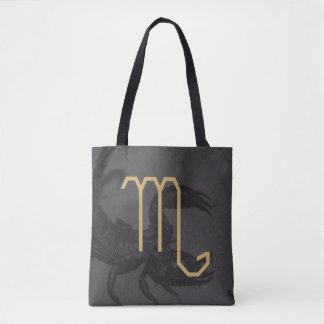 Scorpius  Zodiac Sign | Custom Background Tote Bag