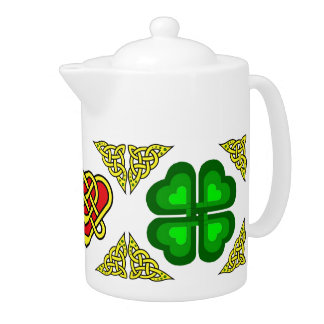 Scotalnd Celtic design/Green shamrock,clover