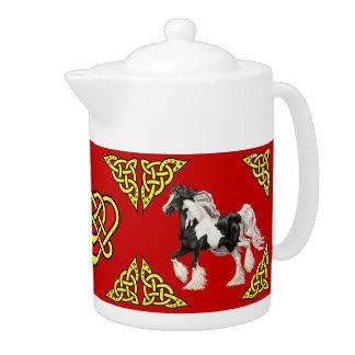 Scotalnd Celtic design/Gypsy Vanner pinto red