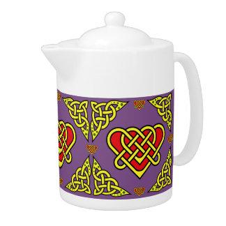 Scotalnd Celtic/Gaidhlig braided heart, 2, purple