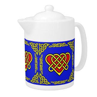 Scotalnd Celtic/Gaidhlig braided heart, 3, blue