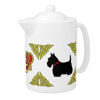 Scotalnd Celtic heart black Scottish Terrier