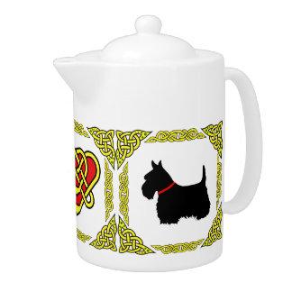 Scotalnd Celtic heart black Scottish Terrier 5