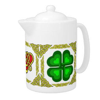 Scotalnd Celtic heart design/Green shamrock,clover