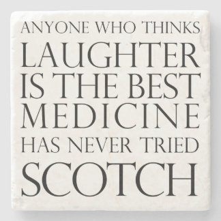 Scotch Laughter Marble Coaster